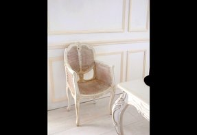 french cane chair. White French Cane Chair