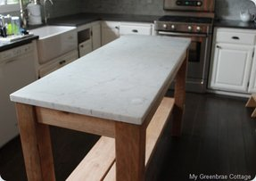 White marble kitchen table 12