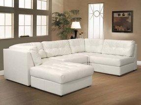 White Modular Sectional Sofa Living Room Furniture