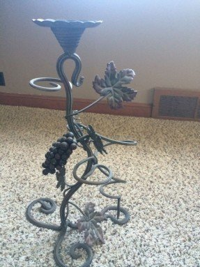 Wrought iron candle holder 10