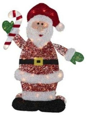 36 santa claus lighted outdoor christmas yard decoration 3 feet - Santa Claus Christmas Decorations