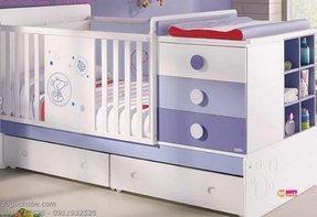 Baby cribs furnitures with storage drawer