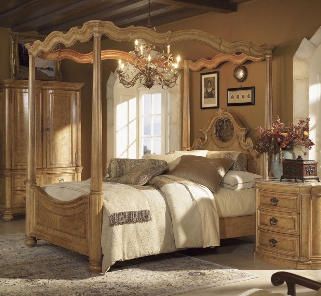 Closeout special palencia king size canopy bed wynwood furniture 1708 & Four Post King Size Bedroom Sets - Foter