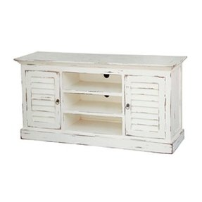 cottage style tv stand - Distressed White Tv Stands