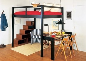 Full loft bed with stairs 3