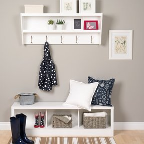 Entryway Hall Tree With Storage Bench Foter