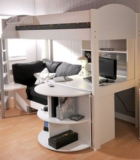 Loft Bed With Shelves Foter