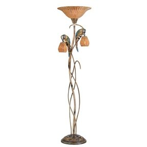 Ireland parrot paradise torchiere floor lamp traditional floor lamps
