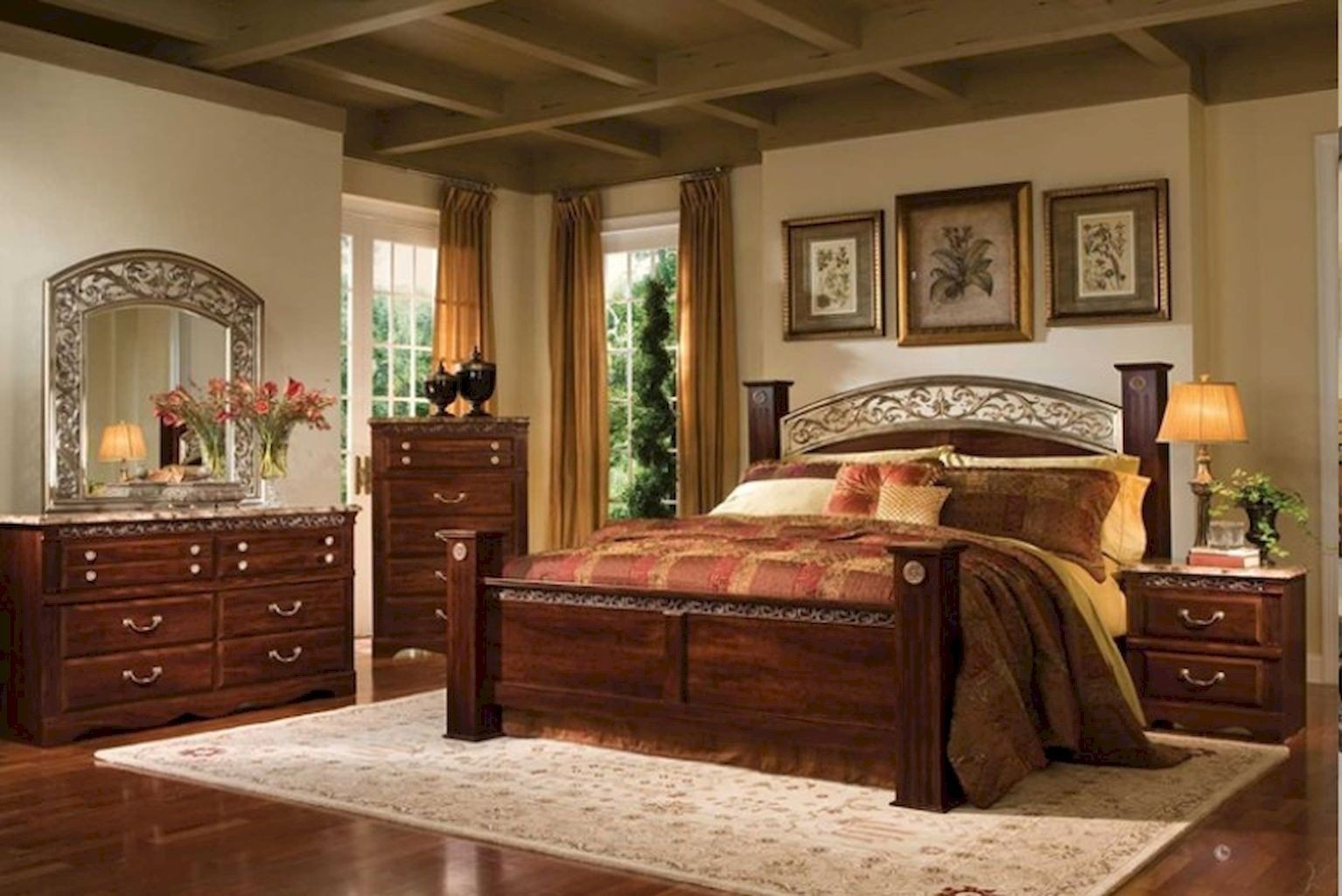 King size canopy bedroom sets 4 & Four Post King Size Bedroom Sets - Foter