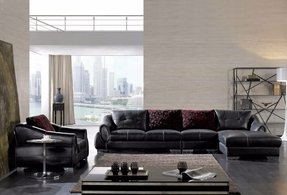 Leather sectional sleeper sofa 7