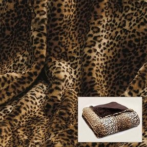 Leopard print faux fur throw 3