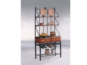 Metal And Wood Bakers Rack Ideas On Foter