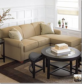 Microfiber sofa with chaise 7