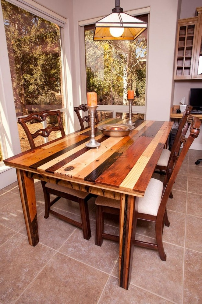 Natural Wood Dining Room Table 1