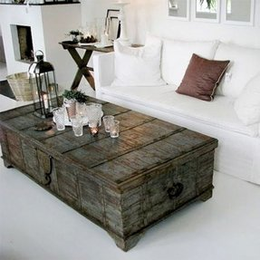 Old trunk coffee table