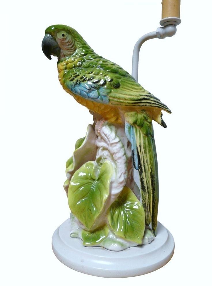 Are vintage porcelain parrots