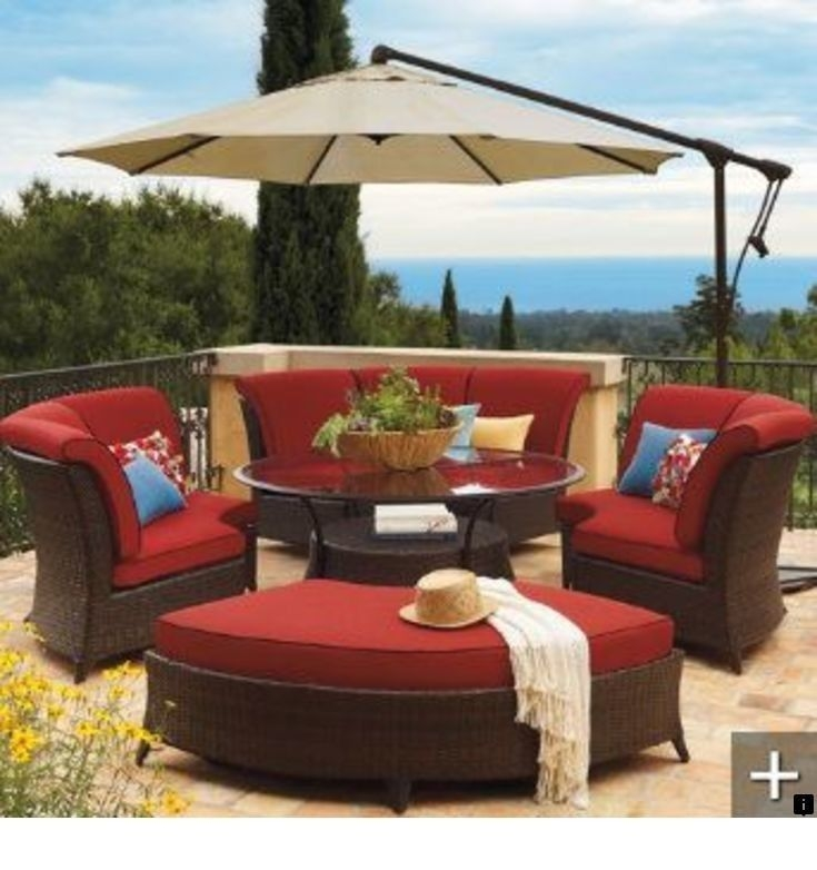 Red Patio Furniture Sets 1