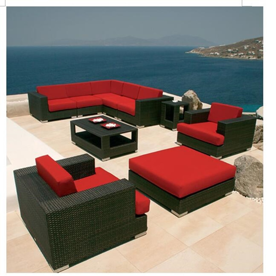 Red patio furniture sets 23