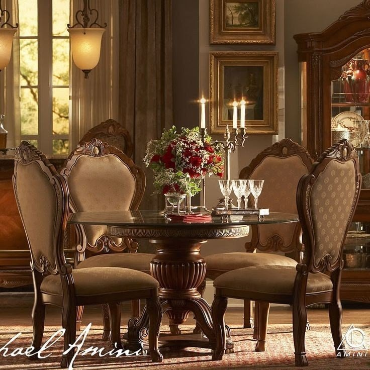 Round Glass Dining Room Table Sets 1