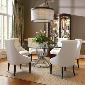 Round Glass Dining Room Table Sets - Foter
