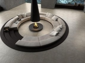 Round leather couch 4