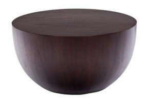Round solid wood coffee table 1