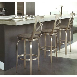 Trica metal bar stools