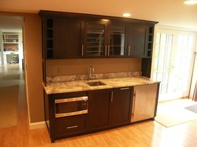 Wet bar contemporary boston