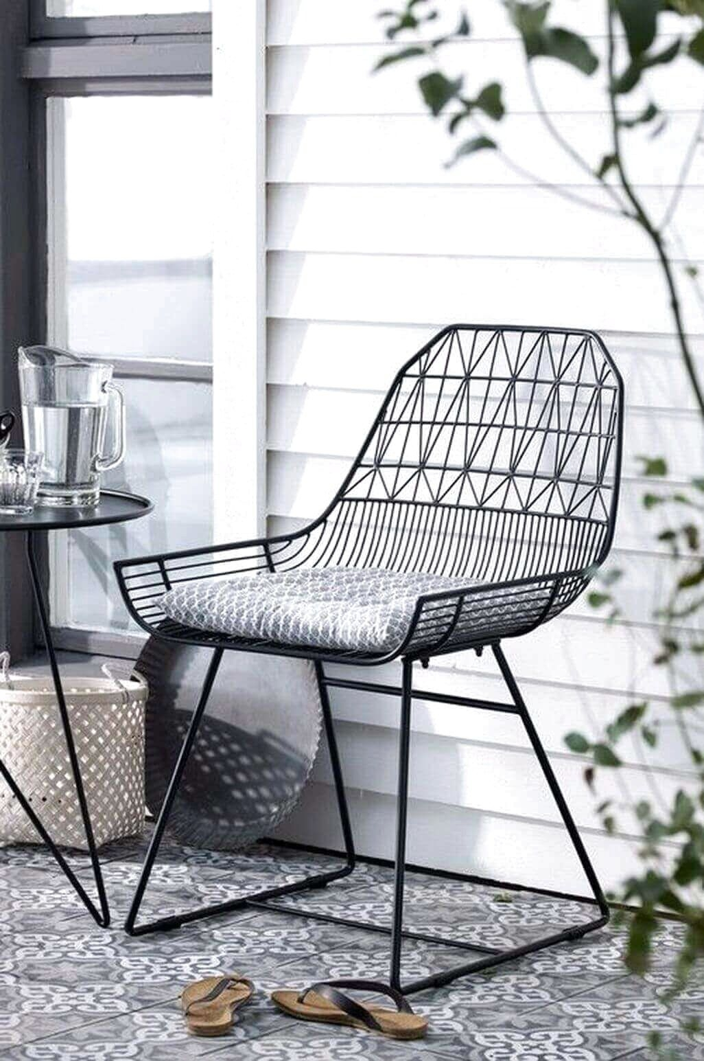 Superior White Metal Patio Chairs