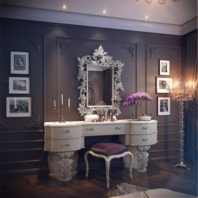 White vanity table with mirror 3