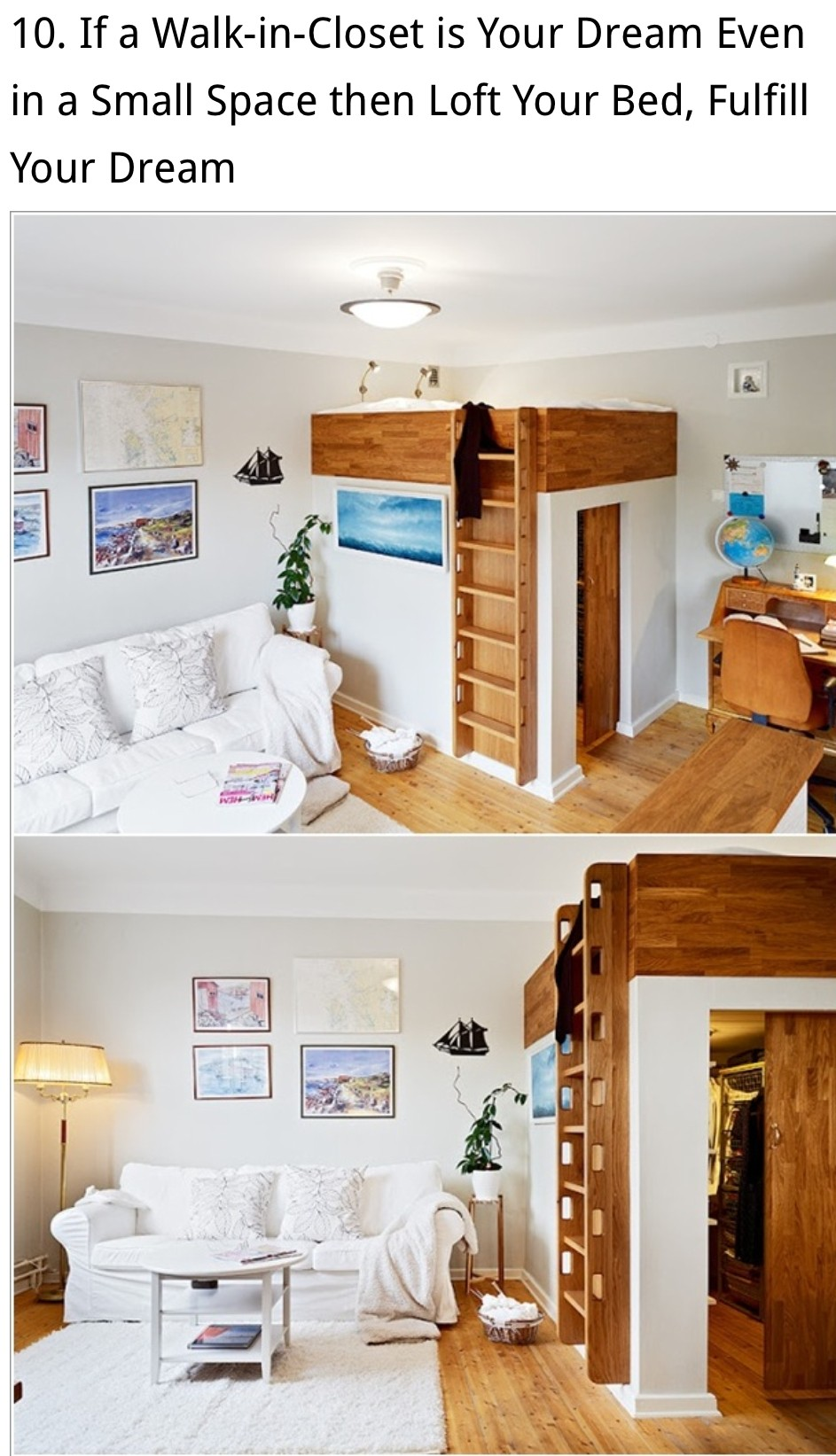 Functional arrangement of a small bedroom. This loft bed includes two small l&s and solid wooden rails for protection. Durable wooden ladder provides ... : small beds with storage  - Aquiesqueretaro.Com