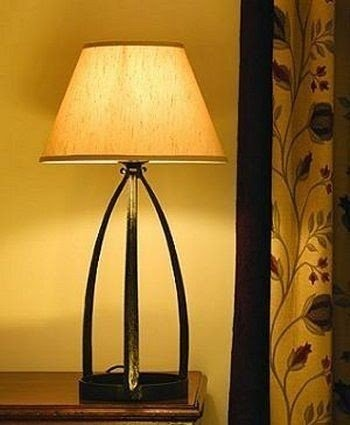 Ordinaire Black Wrought Iron Table Lamp 1