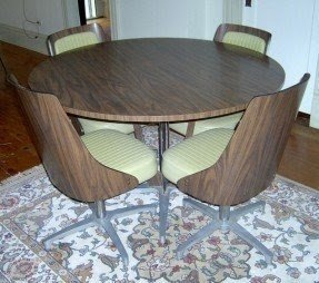Chromcraft Dinette Set With 4 Swivel Chairs 1960s 70 Mid