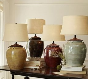 Blue Glaze Ceramic Table Lamp Ideas On Foter