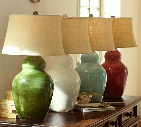 Evelyn gourd ceramic table lamp base