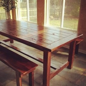 Ft farmhouse style rustic table table and by theknottedtable 800