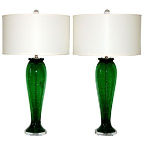 sage green light glass lamp table dar l dillon