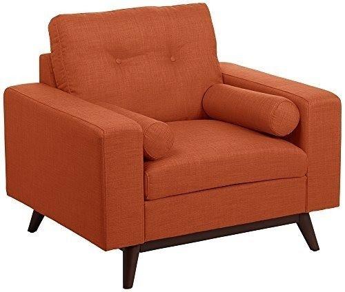 Kimlyn Rio Orange Mid Century Modern Armchair