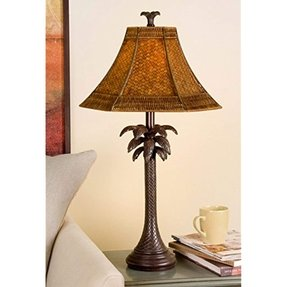 Palm Tropical Floor Lamp - Foter