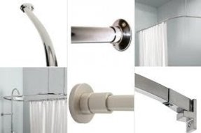 Polished nickel shower curtain rod