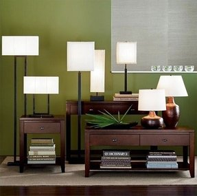 Rectangular shade floor lamp 2