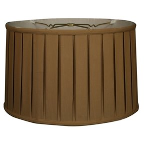 Royal Designs Shallow Drum English Bo x Pleat Basic Lamp Shade, Antique Gold, 17 x 18 x 11.5, 6-way