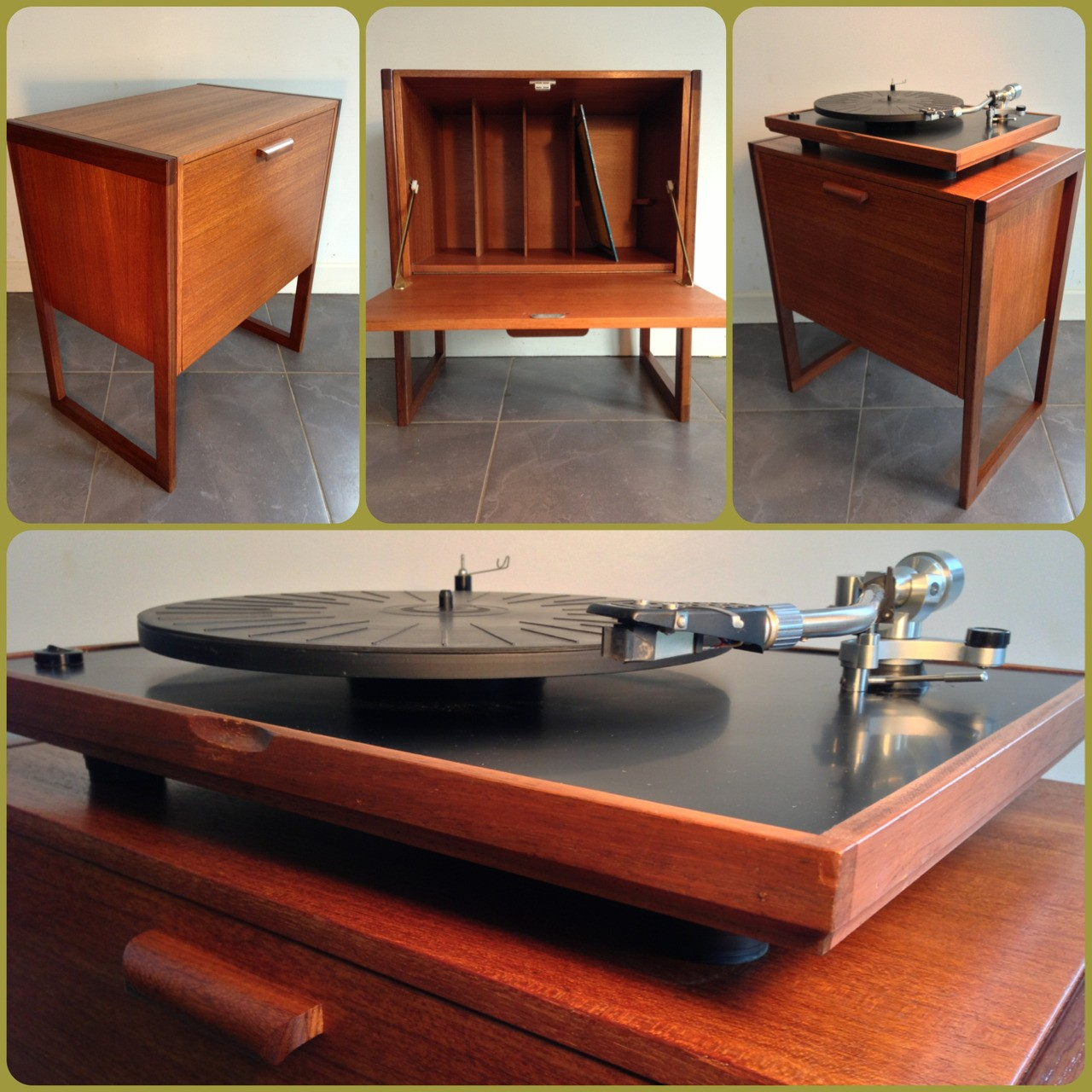 A Real Bargain For All Music Lovers Or Vintage Design Enthusiasts, This  Record Cabinet Enchants With Its Original Teak Wood, Being A Symbol Of The  1960u0027s ...