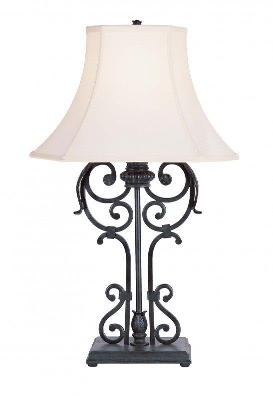 Charming Wrought Iron Table Lamps