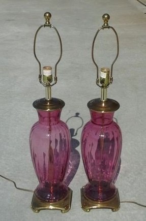 Table Lamp Hand Blown Glass Foter