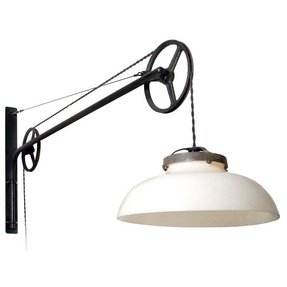 5 foot double pulley swing arm lamp
