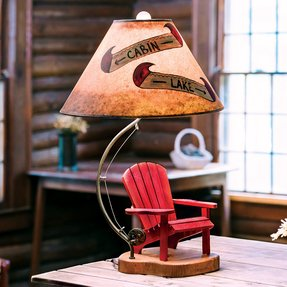 Adirondack table lamp 7