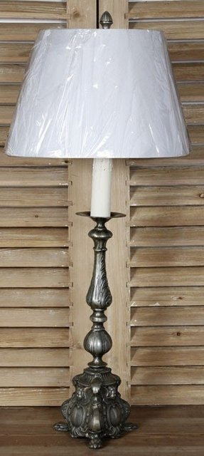 Antiques pewter table lamp 9