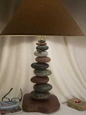 Balance rock table lamp