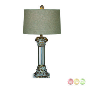 Bassett mirror l2506tec old world corinth table lamp in antique